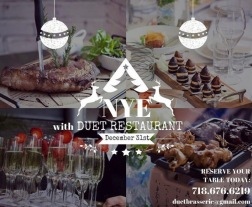 NYE at Duet Restaurant