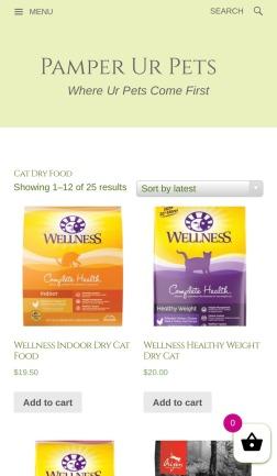 E-commerce pet online store